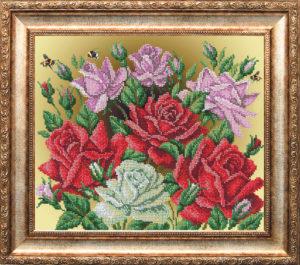 "Набор для вышивки бисером ""Аромат роз"""