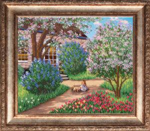 """Набор для вышивки бисером """"Цветущий сад"""""""