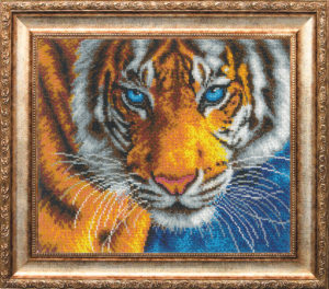 "Набор для вышивки бисером ""Взгляд тигра"""