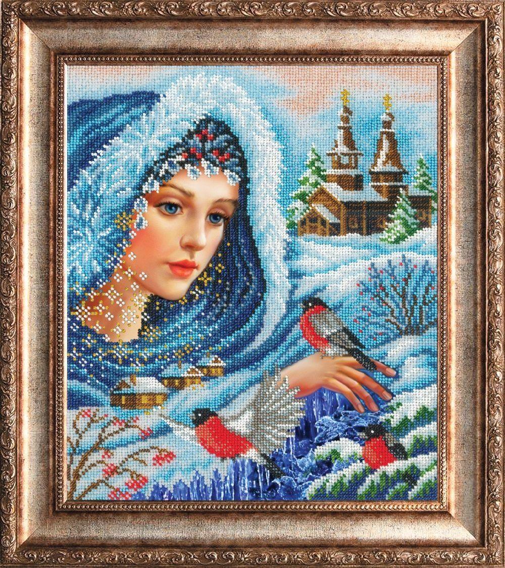 Картина бисером - Волшебница зима