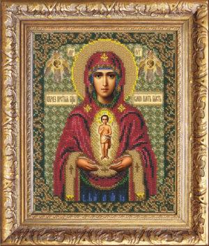"""Набор для вышивки бисером """"Богородица Албазинская"""""""