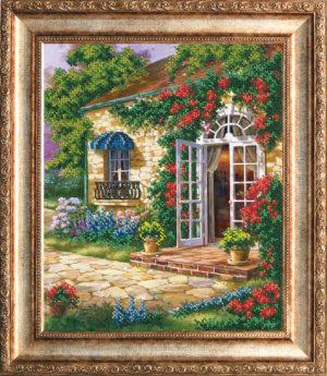 """Набор для вышивки бисером """"Дом в саду"""""""
