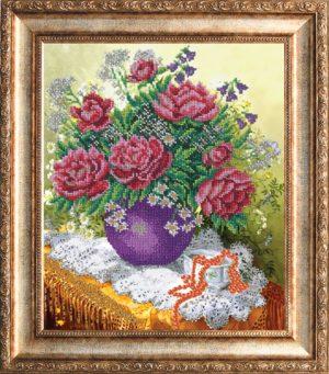 """Набор для вышивки бисером """"Розовые пионы"""""""