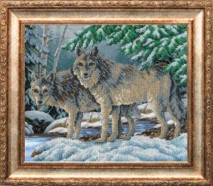 """Набор для вышивки бисером """"Волки"""""""